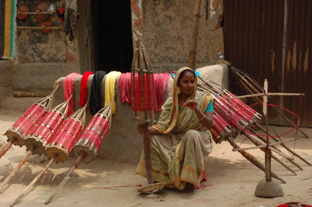 Making of Jamdani Saree